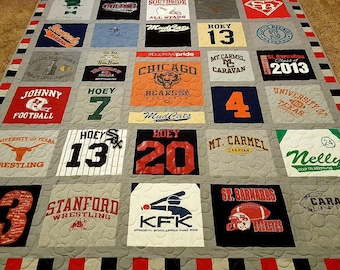 Tshirt quilt | Etsy : pictures of tshirt quilts - Adamdwight.com