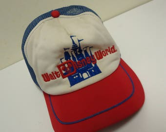 walt disney world vintage hat,mickey mouse mesh trucker snapback cap.