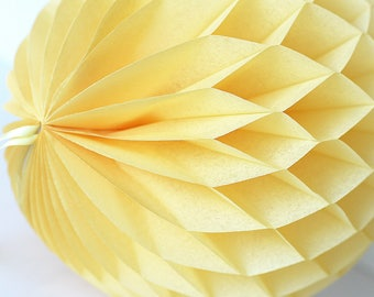 Sunshine yellow / dusty Tissue paper honeycomb ball -  hanging wedding party decorations - nursery decor - birthday party-dusty yellow