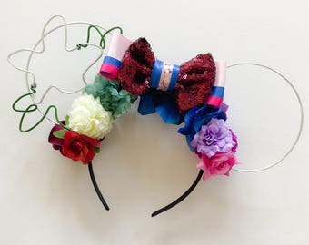 Mulan Inspired Ears | Matchmaker Dress | Mulan Ears | Wire Ears | Floral Ears