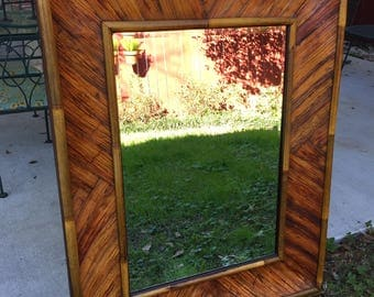 Tiger Bamboo vintage wall mirror Large