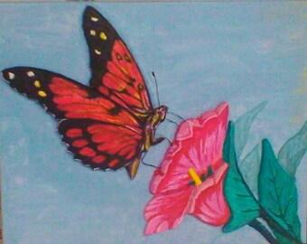 Lady Butterfly in 3D
