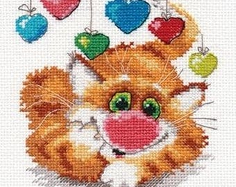Lot of 2 Counted cross stitch kit for beginner/easy embrodering/ Anniversaire