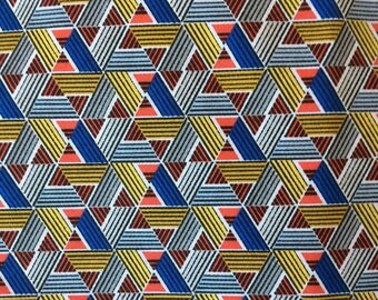 Fabric geometric triangles