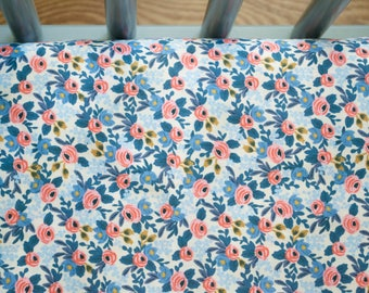 rifle paper crib sheet, rifle paper changing pad cover, rifle paper toddler bedding, floral crib bedding, baby bedding, mini crib sheet
