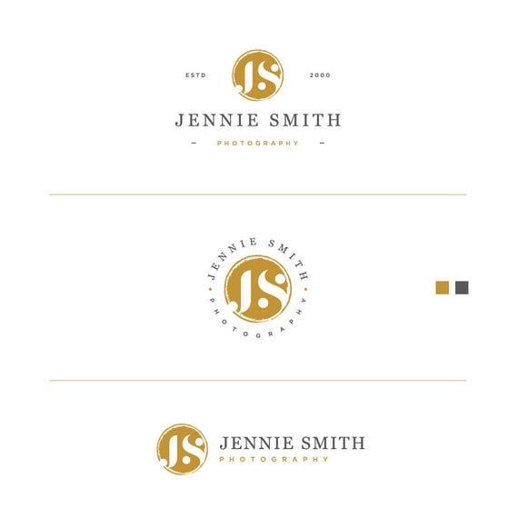 Mini Branding Kit, Glitter Gold Logo, Gold Foil Logo, Business Stamp Logo, Branding Logo Kit, Gold Business Logo, Blog Logo Kit, Gold Logo