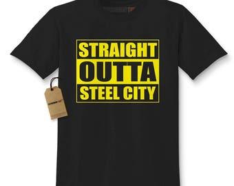 Straight Outta Steel City Football Kids T-shirt