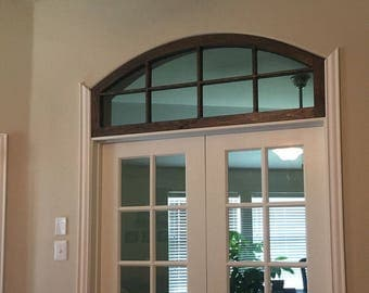 Custom Two Sided Arched Window