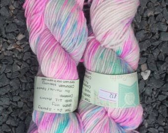 Hand dyed yarn - DK - sparkly heavenly