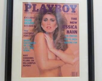 Vintage Playboy Magazine Cover Matted Framed : September 1988 - Jessica Hahn
