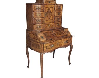 Eighteenth Century German Baroque Walnut Desk