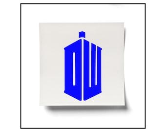Dr Who Logo Decal, Dr Who Logo Sticker, Dr Who Sticker, Doctor Who Decal, Fandom Decal, Whovian Sticker, Tardis Decal, Tardis Sticker