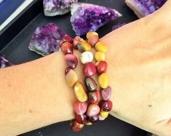 3 Mookaite Jasper Bracelets, Reiki healing Jewelry