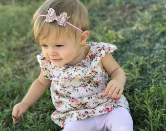 Pink glitter headband, pink bow headband, silver glitter headband, glitter bow headband, baby hair bow, bow headband, baby girl headband