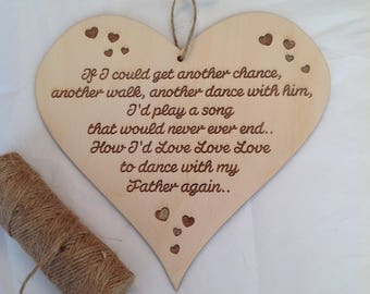 Engraved Wooden Dad Heart Verse by Duck Duck Goose