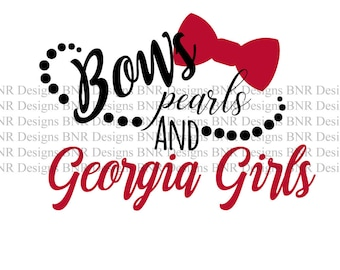 Georgia Girls SVG, UGA Svg, Georgia SVG, Svg File, Dxf File, Cricut File, Cameo File, Silhouette File