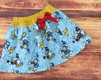 Donald Duck Party, Donald Duck Skirt, Donald Duck Birthday, Baby Donald Duck, Toddler Donald Duck, Donald Duck, Donald Duck Dress, Handmade