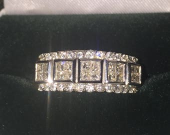 Gold and Diamond Cocktail Ring set with 46 Diamonds of 1.50ct in total.