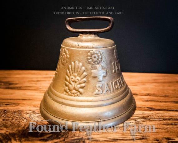 Antique Swiss 1873 Chiantel Fondeur Saignelegier Solid Bronze Cow Goat Bell