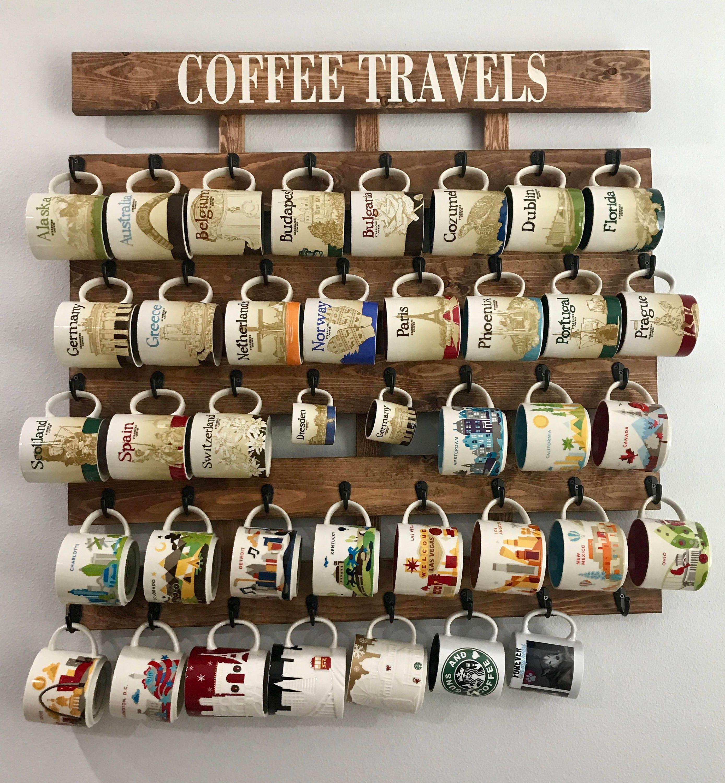 Coffee cup holder coffee cup rack coffee mug rack 40 or 48 for Coffee mug display rack