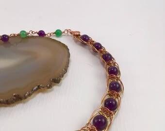 S - 374 Wire macramé necklace