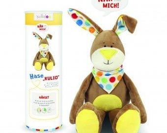 Plush Brown rabbit kulio Kullaloo Kit