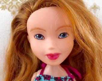 Hand Painted Redhead Doll-Upcycled Bratz