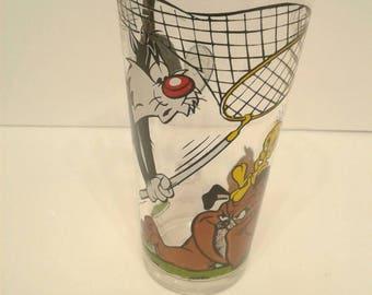 Sylvester & Tweety Bird Pepsi Glass 1976