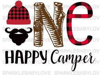Happy Camper Stencil Etsy