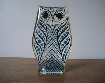 Abraham Palatnik /Lucite chouette Figurine-60s / vintage owl/ Midcentury