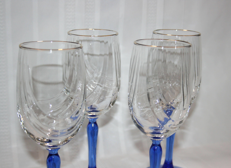 Vintage lenox crystal wine glass cobalt blue stemmed dual swag gallery photo gallery photo gallery photo reviewsmspy