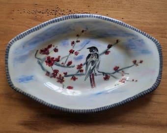 Bird on the Cherry Tree Dish
