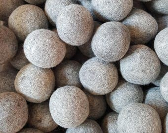 Wool Dryer Balls - 100 Large Natural Grey Wool Dryer Balls  - Great For Cloth Diapers - Felt Dryer Balls - Wholesale - Co-op