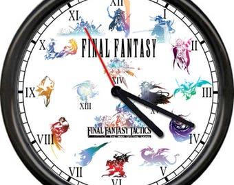 New Version Final Fantasy XIII XIV XV Science Fiction Combat Role Playing Hironobu Sakaguchi Sign Wall Clock