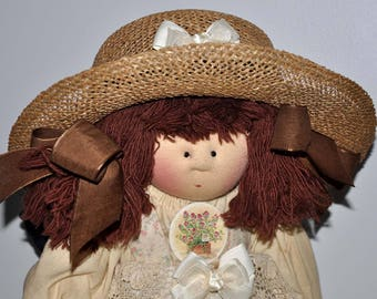 Little Souls Doll, Little Souls Original, Gretchen Wilson, Dolly Mama, 24 Inch Cloth Doll, Little Souls Beatrice, Vintage Doll, OOAK Doll