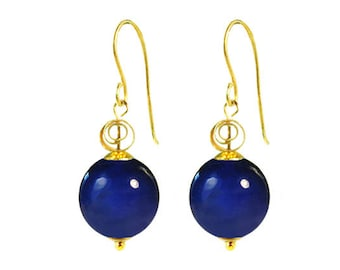 Murano Glass Earrings by Mystery of Venice  'Zanetta', Lapis Blue Earrings, Murano Glass Jewelry, Italian Earrings, Venetian Glass Jewelry
