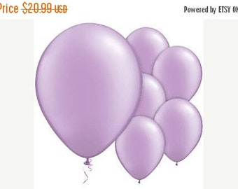 "ON SALE 50 Lavender Balloons 11""  Balloons, Wedding Shower Balloons, pastel party decor"