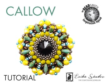 Callow pendant - instant dowload for the pdf instructions for a top-notch beadwork project!