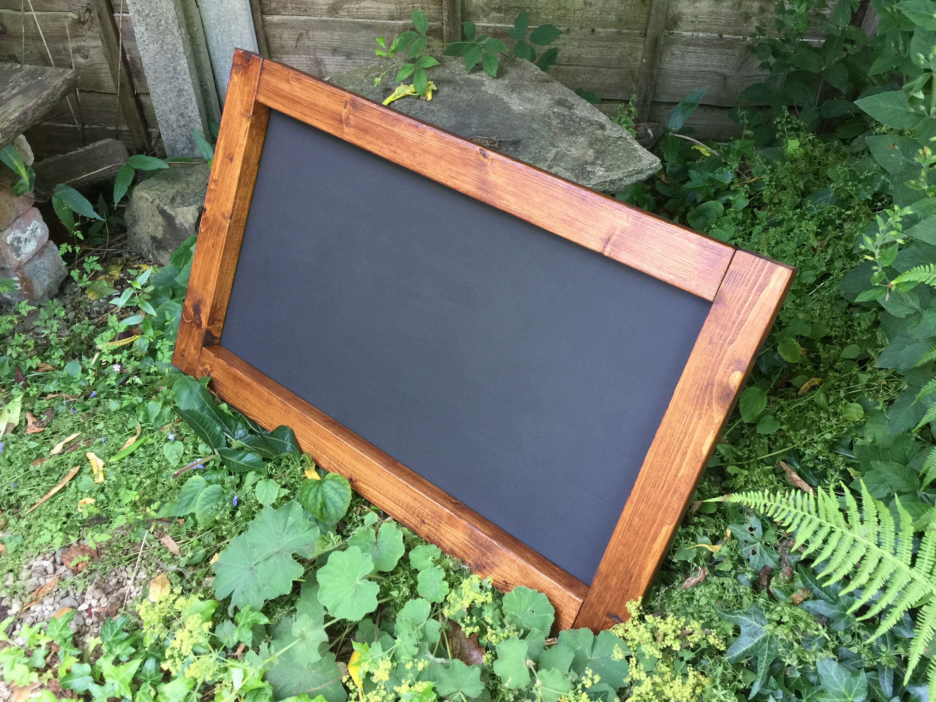 Lovely Wooden Rustic Chalkboard Menu Oak Style