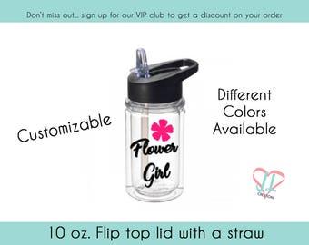 Flower Girl Water Bottle - Water Bottle - Gift for Flower Girl