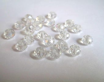 10 6x5mm faceted Crystal beads