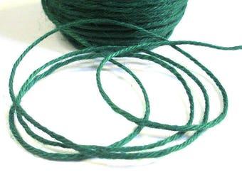 10 m Green 2mm hemp cord