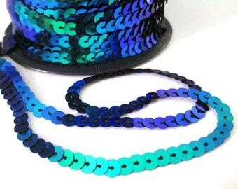 3 m tape 6mm dark blue sequin trim