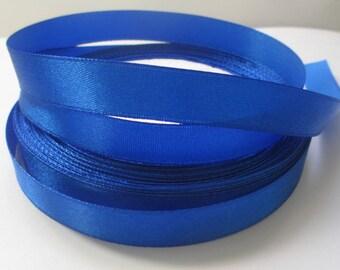 5 m 12mm dark blue colored satin ribbon