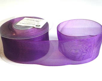 1 m 40mm purple organza Ribbon