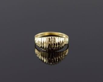 14k Diamond Cut Mound Ring Gold