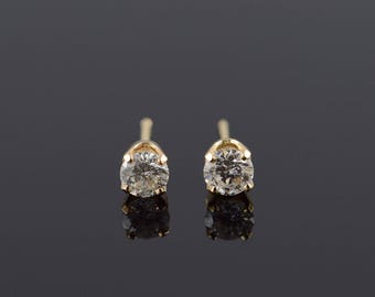 14k 0.50 CTW Diamond Stud Earrings Gold