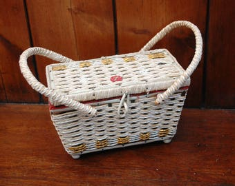 Vintage Musical Sewing Basket - 1960's
