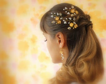 Bridal Hair Pins Gold Tone Hairpins Wedding Hair Pins Wedding Hairpins Bridal Hairpin