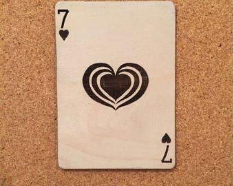Seven of hearts - Triple heart